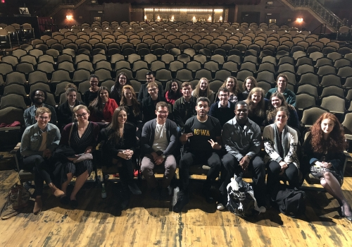 Tony and Emmy Award-winning actor Bobby Cannavale with UI students