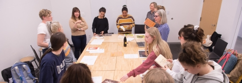 Students in Book Design for Publishing class
