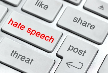"Keyboard with ""hate speech"" key"