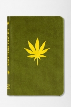 Picture of a book with a marijuana leaf on the cover